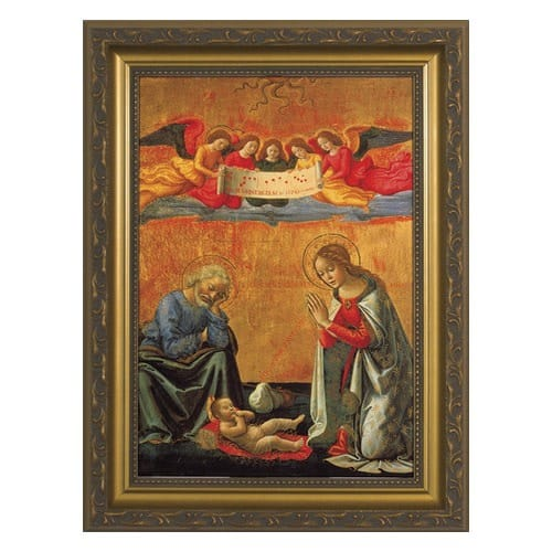 Nativity by Ghirlandaio w/ Gold Frame