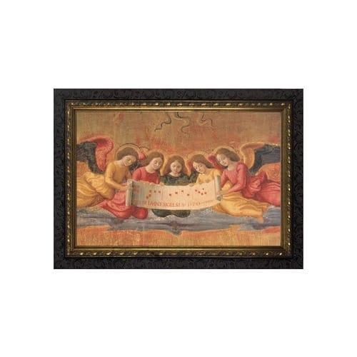 The Nativity Angels w/ Dark Ornate Frame