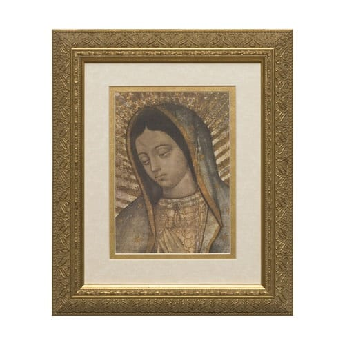 Our Lady Of Guadalupe Matted W Gold Frame The Catholic Company
