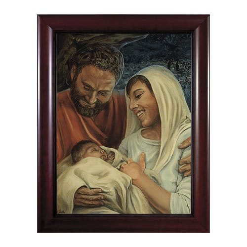 Nativity w/ Cherry Frame