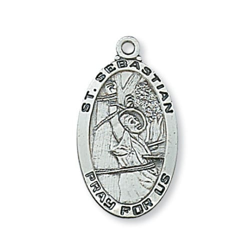 Sterling silver st sebastian medal the catholic company aloadofball Images