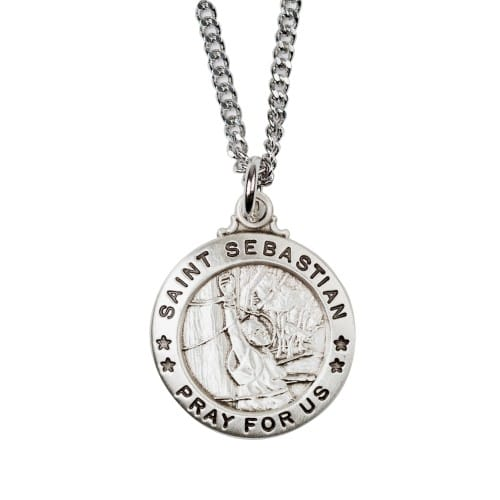 Sterling Silver St. Sebastian Medal with 20 inch chain 2033255