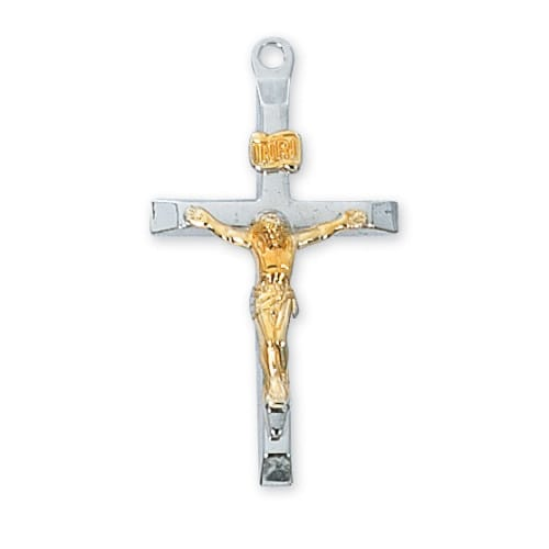 Sterling silver crucifix with 20 inch chain the catholic company aloadofball Images