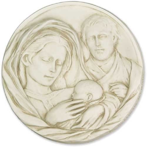 Holy Family Plaque 10""