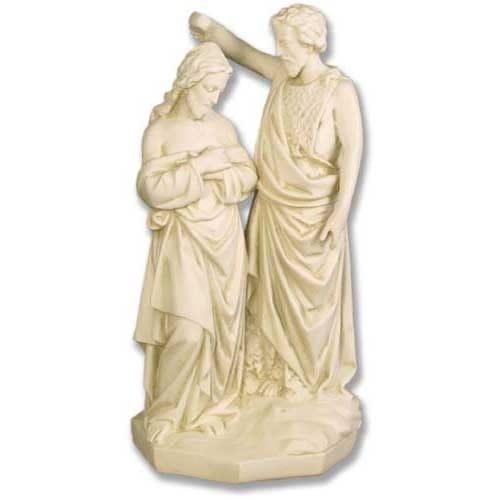 John Baptising Christ Statue