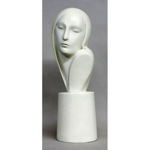Deco Madonna Bust Statue