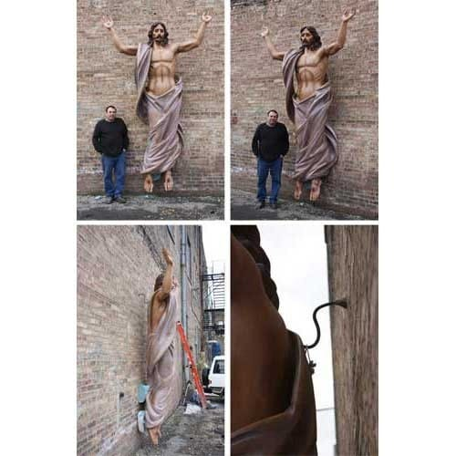 Very Large Risen Christ Statue