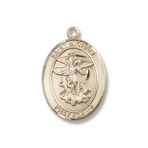Gold Filled St Michael The Archangel Pendant W Chain The