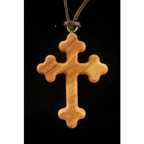 Olive wood crucifix pendant the catholic company aloadofball Image collections
