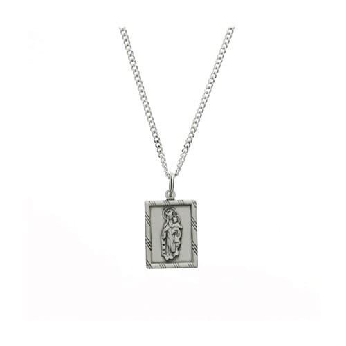 Sterling Silver Scapular with 18 inch Chain