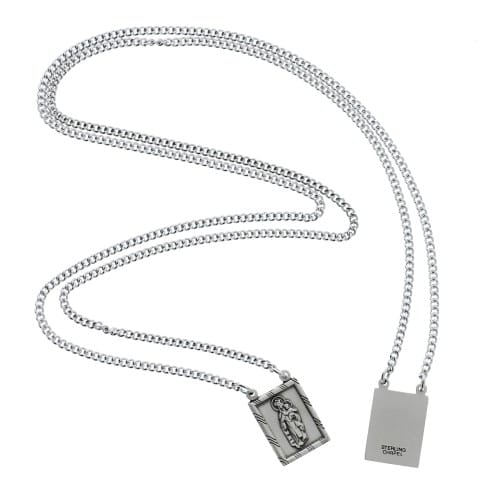 Sterling Silver Scapular with 30 inch Chain
