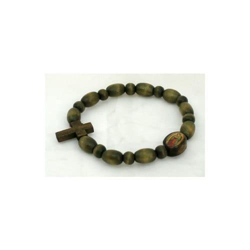 Wood Guadalupe Rosary Bracelet