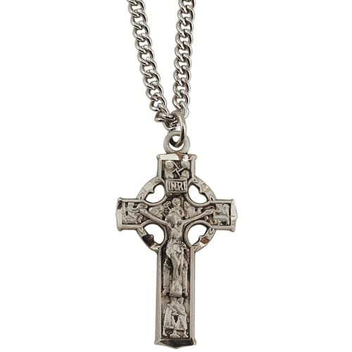 Sterling silver small celtic crucifix the catholic company aloadofball Images
