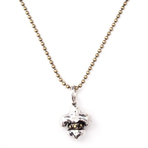 Fleur-de-lis Globe Necklace