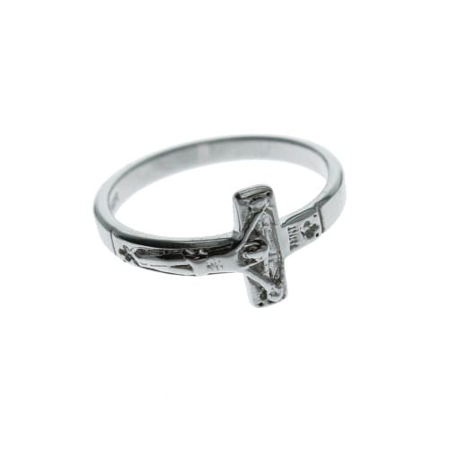 Sterling Crucifix Ring