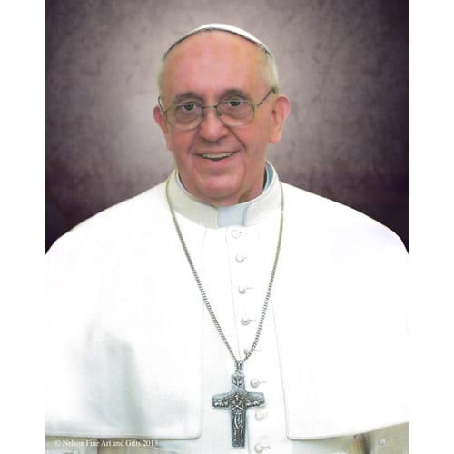Pope Francis Formal Portrait Sleeved Print