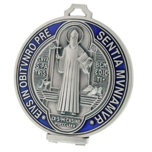 St. Benedict Round Standing Plaque