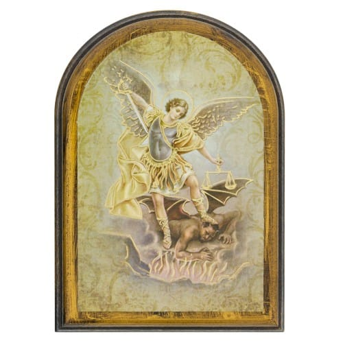 Arched St. Michael Plaque