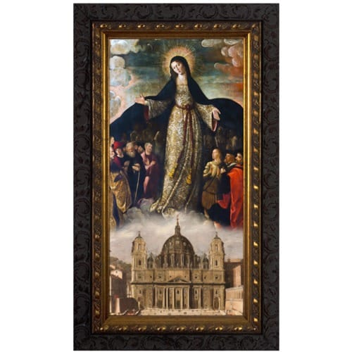 Mary Mother of the Church Ornate Framed Art - Small