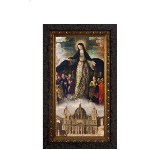 Mary Mother of the Church Ornate Framed Art - Medium