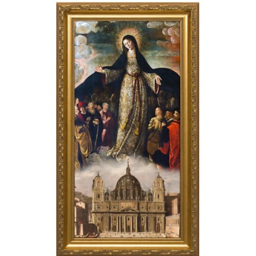 Mary Mother of the Church Gold Framed Art - Small