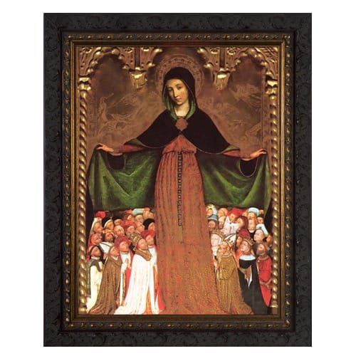 Mary Mother of Mercy Ornate Framed Art - Small