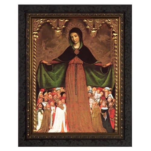 Mary Mother of Mercy Ornate Framed Art - Medium