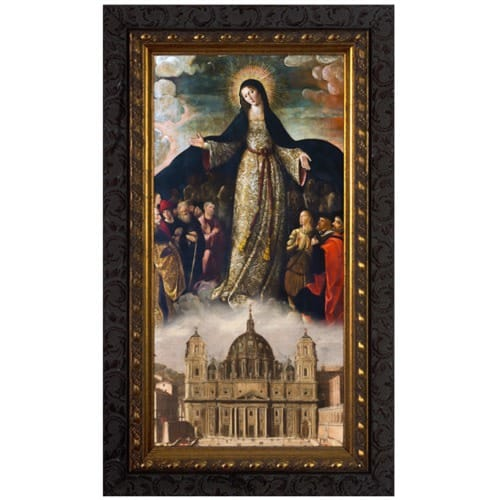 Mary Mother of the Church Ornate Framed Art - Large