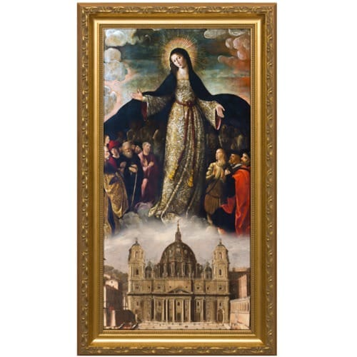 Mary Mother of the Church Gold Framed Art - Large