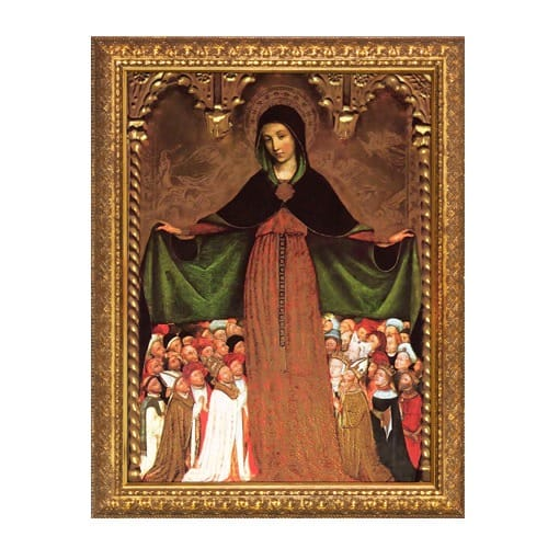 Mary Mother of Mercy Gold Framed Art - Large