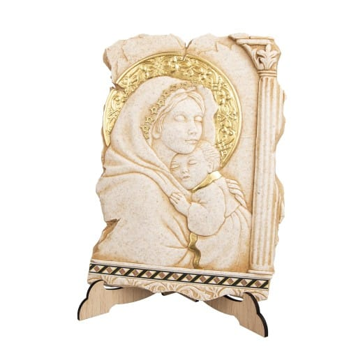 Madonna and Child Italian 3D Plaque
