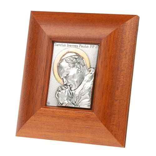 Pope St. John Paul II Wood Plaque