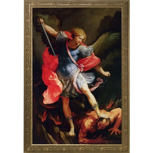 St. Michael the Archangel Church-Sized Framed Canvas Art