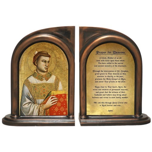 St. Stephen Patron of Deacons Bookends