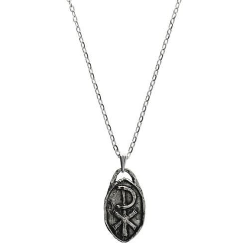 """""""Be Not Afraid"""" Medal with Chain, Handmade Pewter"""