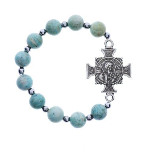 Blue Jasper St. Benedict Bracelet