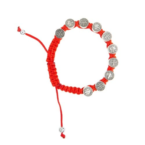 Red St. Benedict Woven Bracelet