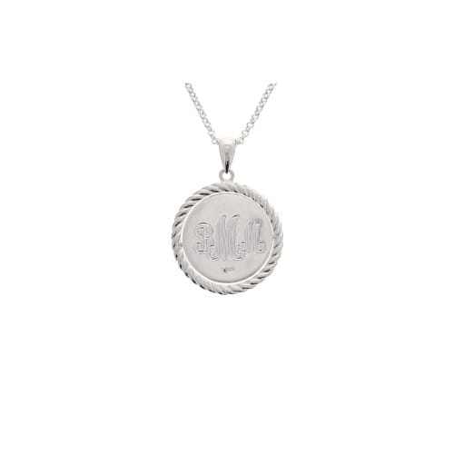 Sterling Silver Cross Disc Pendant
