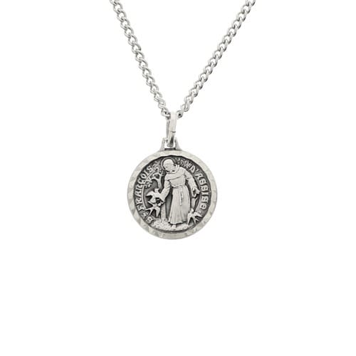 French St. Francis Medal - Chain and Box
