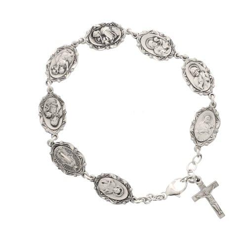 Sterling Silver Patron Saint Bracelet