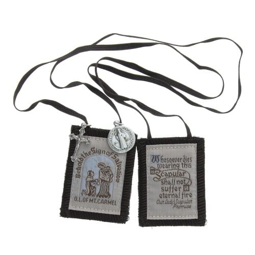 Brown Scapular with Brown Strings - Small