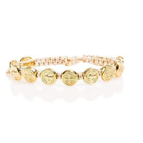Gold St. Benedict Blessing Bracelet