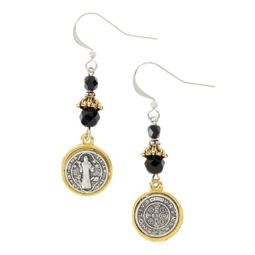Jet Black St. Benedict Earrings