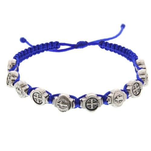 St. Benedict Macrame Bracelet