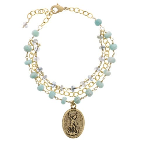 St. Michael Layered Bracelet