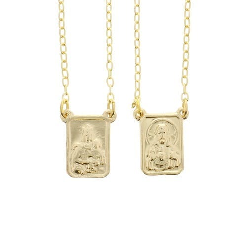 Gold Plated Scapular Necklace