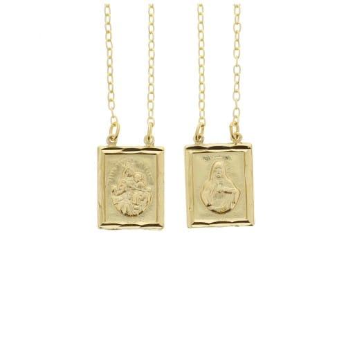 Matte Gold Scapular Necklace