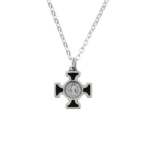Black St. Benedict Cross on Chain