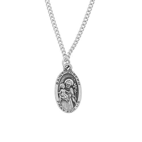 St. Joseph Pewter Medal with Chain 2054786