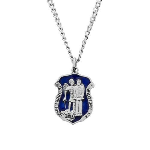 St. Michael Blue Service Badge